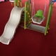 Milk White Color Multifunction Indoor Slide with Basket & Swing Set for kids nfants' school equipment for sale AP-IS0020