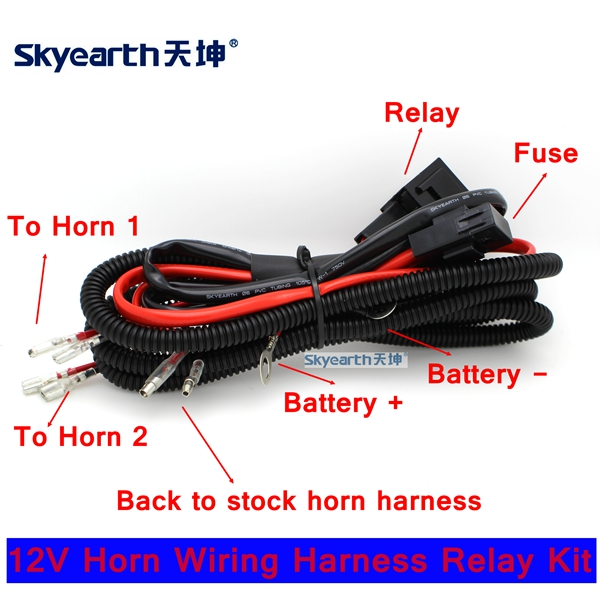 Car Horn Wiring Harness With Relay Fuse car horn wiring harness with relay fuse better for american auto car horn wiring harness at n-0.co