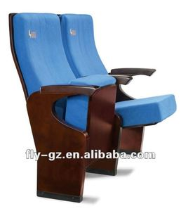 Solid wood frame cinema chair/auditorium chair/theater chair