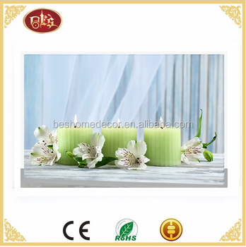 wholesale led canvas flickering candle pictures zen pictures flower