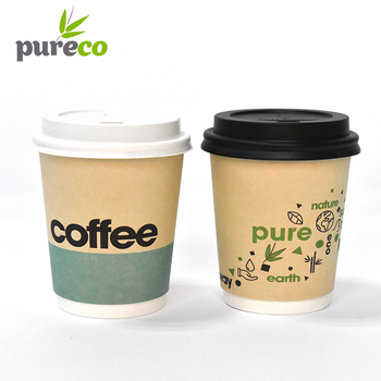 Whole Disposable Cute Cartoon Cup Takeaway The Coffee Paper Cups With Lid