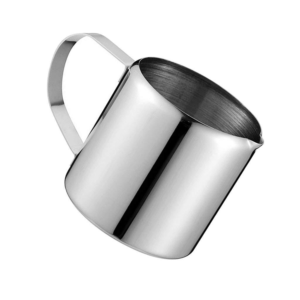 Baoblaze Milk Frother Pitcher, Stainless Steel Handheld Milk Frother, Frothing Pitcher Cup, 1oz, 2oz, 3oz, 5oz, 10oz, Silver - 1oz