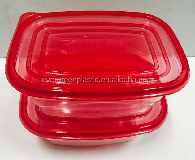 Groothandel wegwerp plastic maaltijd prep containers plastic fast food take away box plastic voedsel opslag container