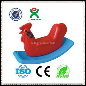 Lovable colorful chick baby plastic rocking horse/rocking horse rider QX-155I