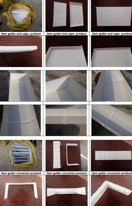 China Standard PVC NFT hydroponic gutter for Strawberries and Tomatoes planting