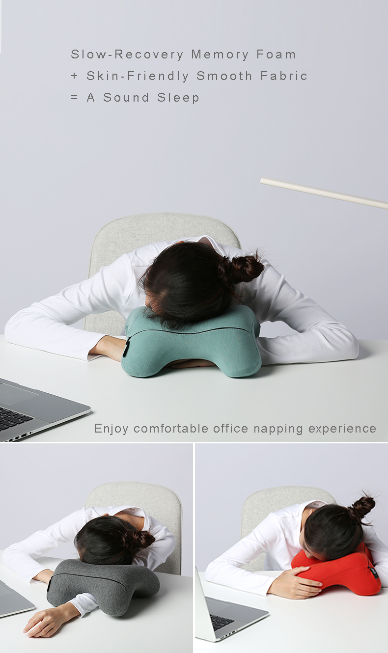 office nap pillow. Ergonomic Memory Foam Headrest Neck Support Rest Nap Travel Pillow For Camping Travelling Office