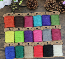 2mm 10meters Christmas Top level hot sale hemp ropes jute ropes String Cord Events Gift Packaging Supplies