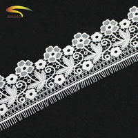 China factory chantilly tatting venice embroidered floral corded lace trimming