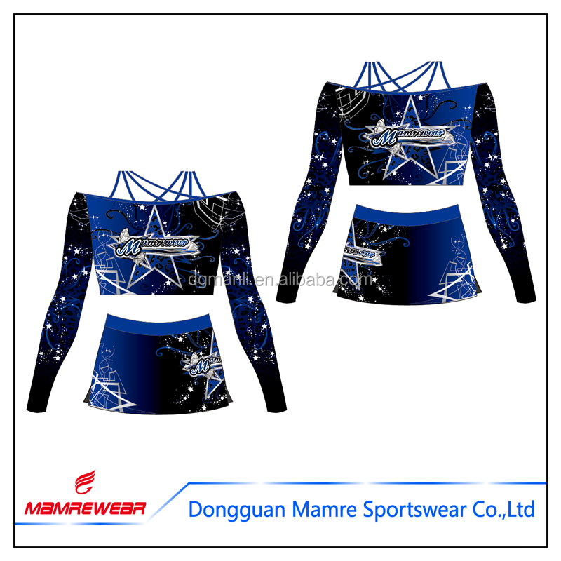 Latest Design All Star Cheer Uniforms , Custom Wholesale Cheerleading Competition Uniforms