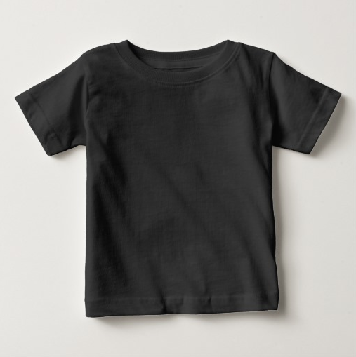 Plain Black Baby Fine Jersey T-Shirt custom t shirt wholesale China clothing