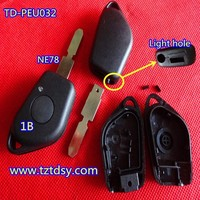 TD-PEU032 fob key shell shell NE78 replacement key shell for Peugeot with blade 406