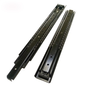 Furniture Lift Linear Ball Bearing Rail Full Extension One Way Travel Telescopic Drawer Slide