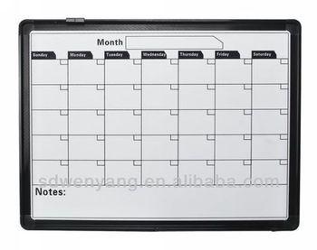 Wall hang dry erase magnetic calendar whiteboard buy calendar whiteboard magnetic calendar - Pizarra calendario ...