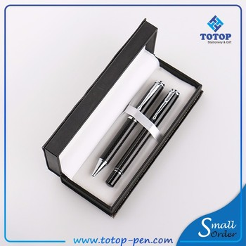 small MOQ Fashion classic metal ball pen gift set for business VIP client