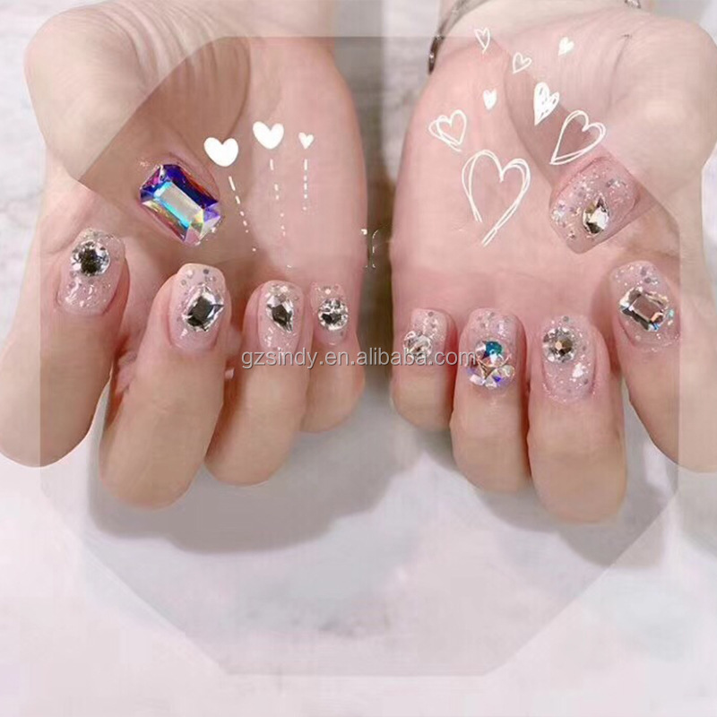 AB Shaped Nail Art Glass Stones