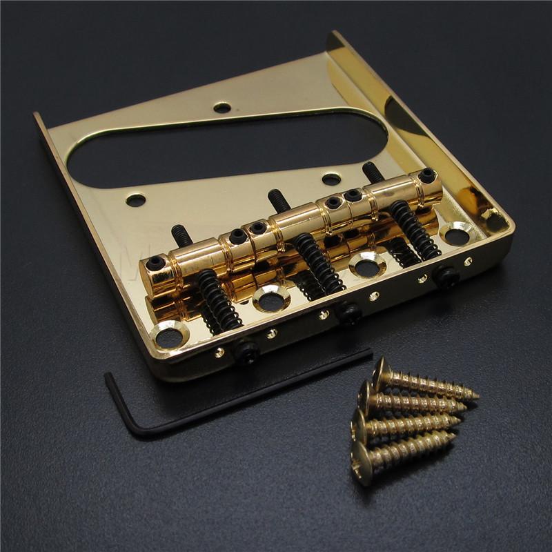 gold 3 saddle guitar ashtray bridge for telecaster guitar parts in guitar parts accessories. Black Bedroom Furniture Sets. Home Design Ideas