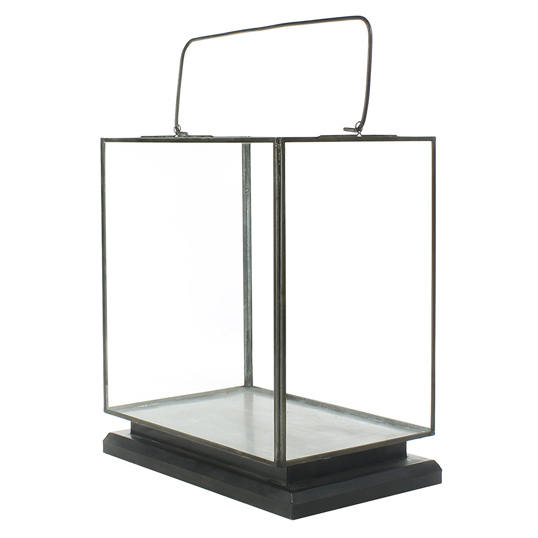 Glass Metal Display Case Box Vitrine | Candle Hurricane Vintage Hanging  Tabletop