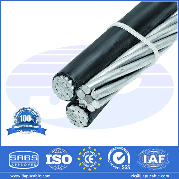 Factory Supply Aluminum Overhead XLPE PVC Insulated Aluminium Self Support Aerial Bundle Cable ABC Power Cable Electric Wires