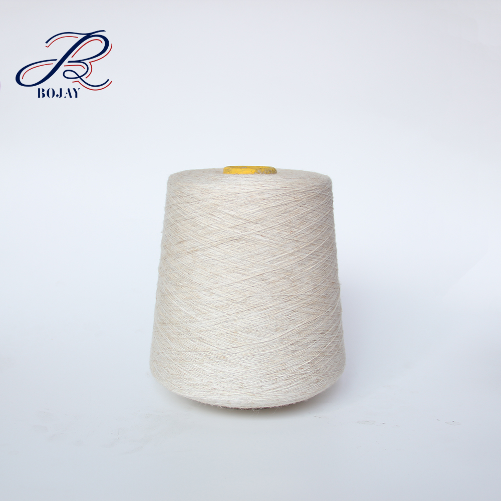 Bojay New Arrival Wholesale Nm 10.5/1 Semi-Bleached Flax yarn 100% Linen Yarn