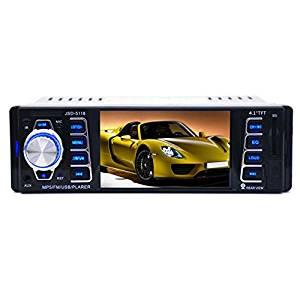 TLoowy In-Dash DVD Receiver Audio Stereos Cartereo Radio Receiver Car Player, In Dash Car MP5 Player USB/TF MP3 Stereo Audio Receiver Bluetooth FM Radio