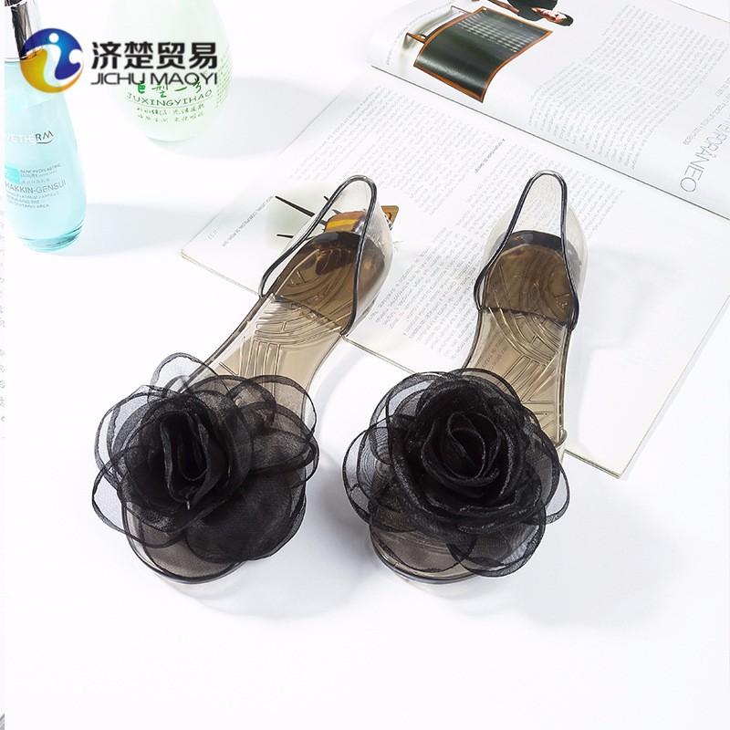 e464d64a46fb1 Jelly Rose Flower Sandals Flat Ladies Shoes Chappal - Buy Chappal ...