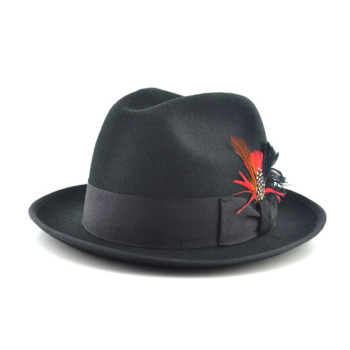 fd99105bdc3c0 Wholesale Wool Felt Wide Brim Black Fedora Hats For Women - Buy ...