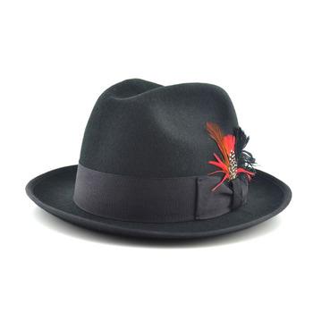 86d719bbf1626 Wholesale Wool Felt Wide Brim Black Fedora Hats For Women - Buy ...