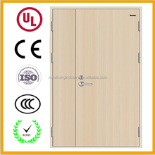 Cheap fire rated steel door with glass panels insert