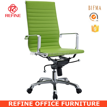 High Back Modern Swivel Leather Executive Lime Green Office Chair Rf S074c