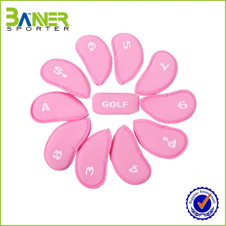 OEM Red Color Iron Covers Golf Iron Covers