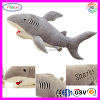 E211 Baby Kids Shark Shaped Animal Bolster Pillow Gift Plush Doll Animal Shaped Pillow
