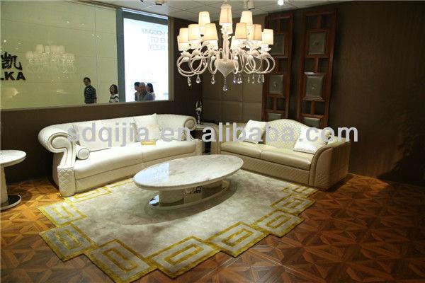 Hot moderne haut de gamme style italien de luxe blanc canap salon meubles en - Salon de luxe italien ...