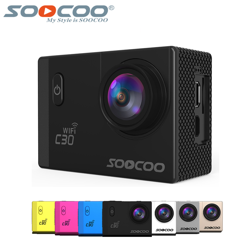 SOOCOO C30 Wifi 4K Gyro Adjustable Viewing Angles(70-170 Degrees) 2.0 LCD