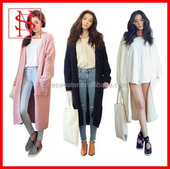Women Long Coat Sweater Maxi Cardigan Knitted - Buy Maxi Cardigan ...