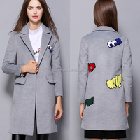2016 latest ladies overcoat designs winter women long wool coat for wholesale