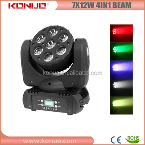 Konuo 7x12W cree rgbw mini led beam moving head /7x12 led moving head beam