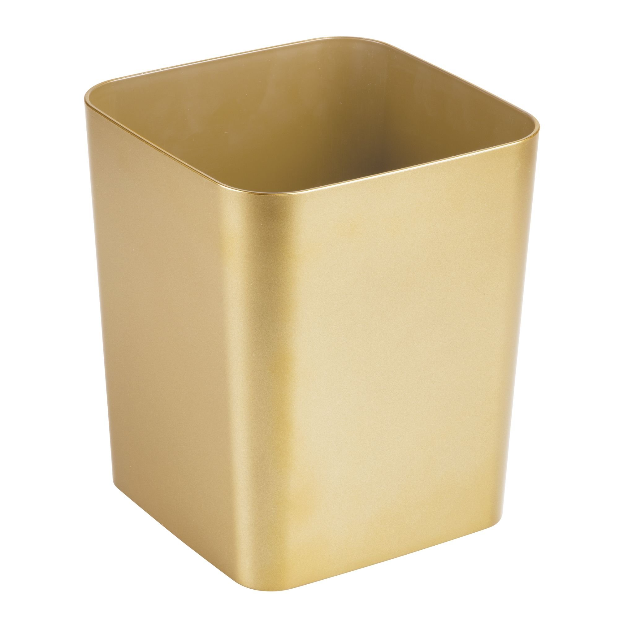 Get Quotations Mdesign Square Shatter Resistant Plastic Small Trash Can Wastebasket Garbage Container Bin For Bathrooms