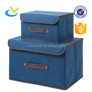 Wholesale pp non woven fabric home underwear foldable storage boxes