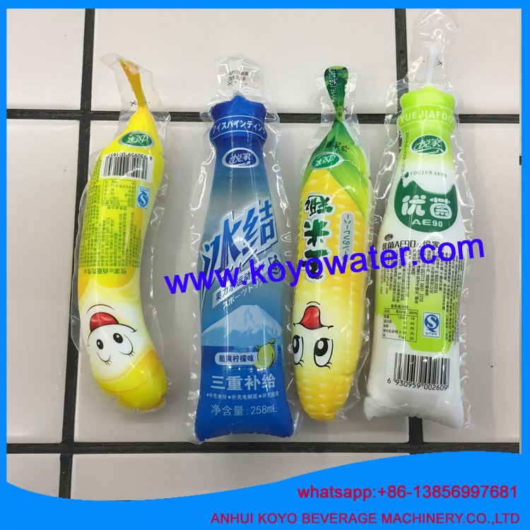 Inflatable bags plastic juice pouch filling packing machine