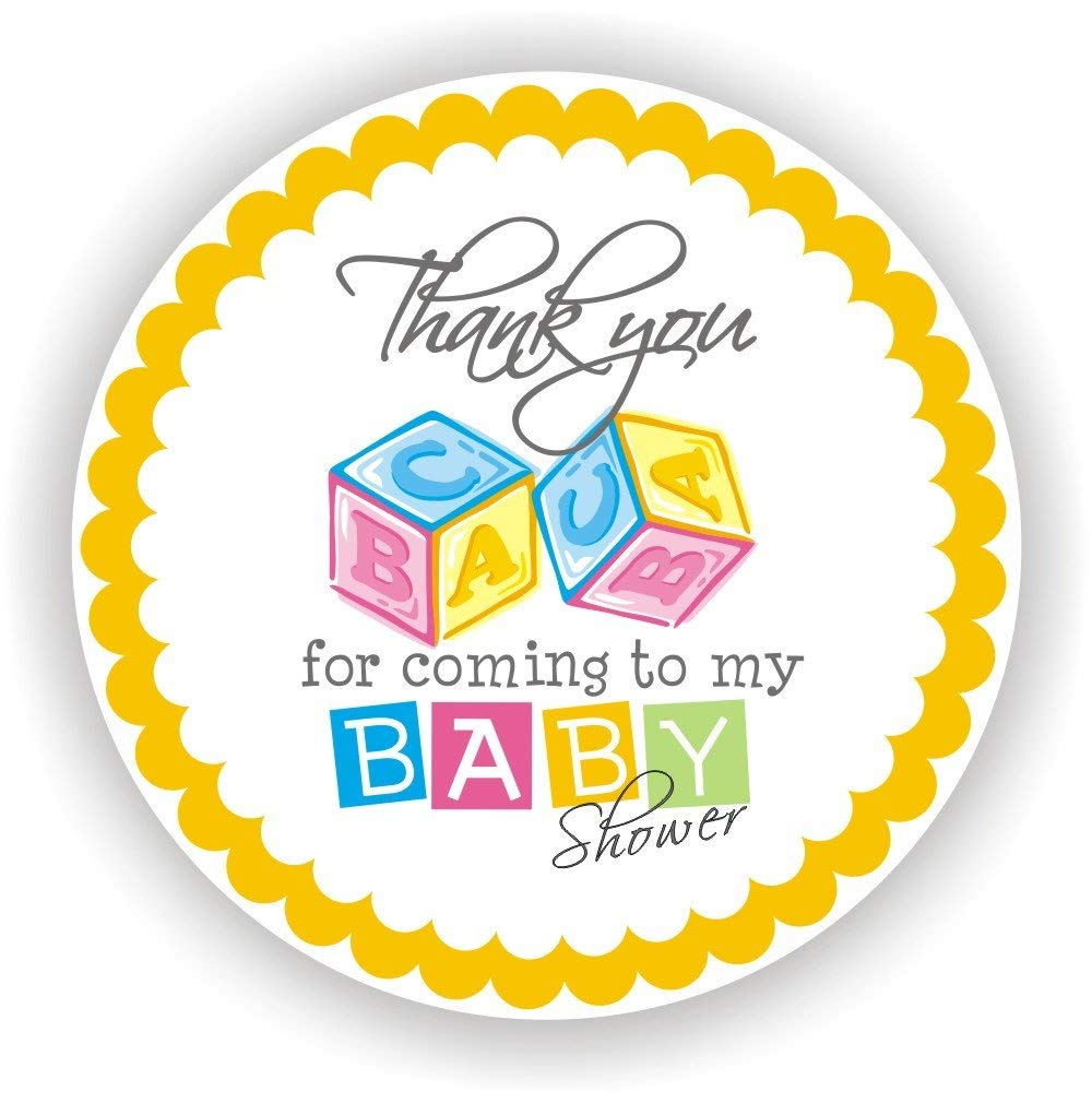 Philly Art & Crafts Baby Shower Stickers - It's a Boy Stickers - Favor Stickers - Baby Shower Favor Stickers - Baby Blocks Stickers - Set of 40 Stickers