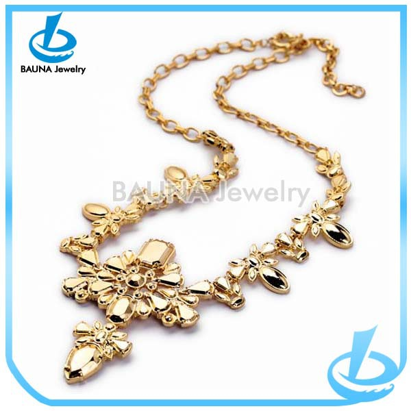 elegant necklace set l gold simple