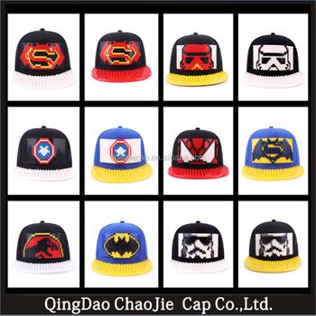 2017 nova moda personalizado snapback chapéu e boné com bloco de construção  DIY 9c30d990b0d