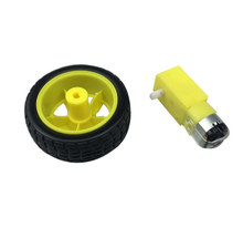 Factory Outlet High Quality Electrical Motor Car Wheel Kit with Toy Plastic Tire Wheel for Uno R3