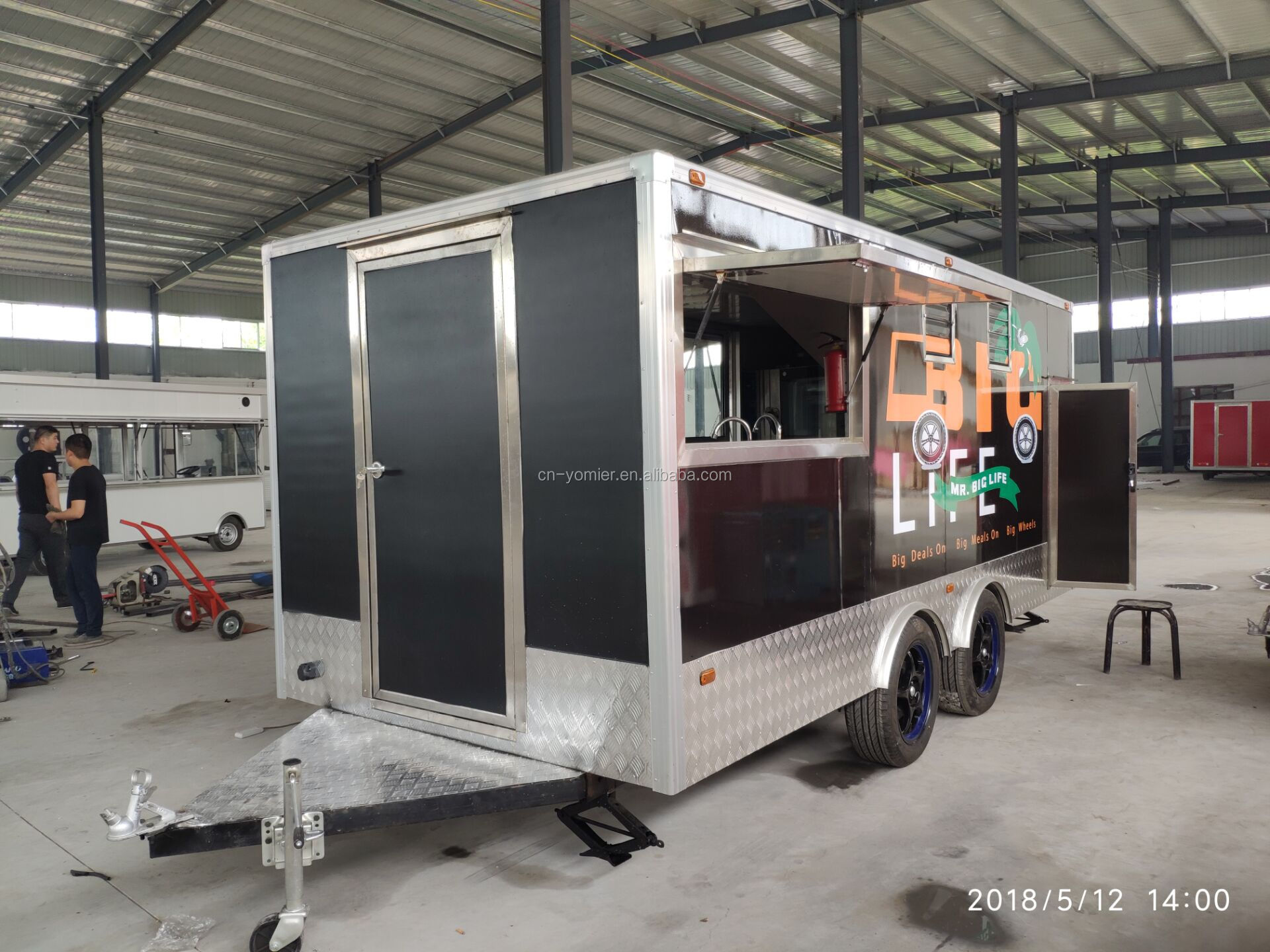 Mobiele Hot Dog Ijs Truck Bbq Food Truck