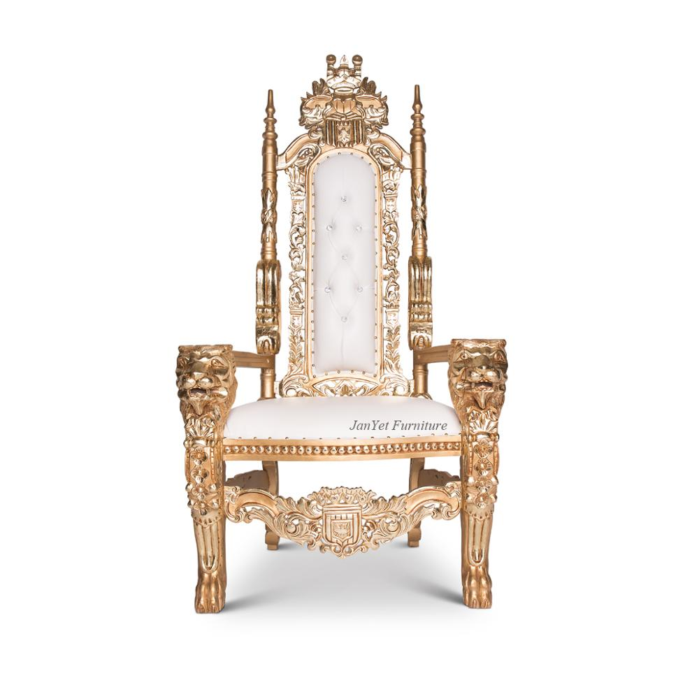 Hot Sale Fancy Royal Style Gold Throne Chairs Luxury