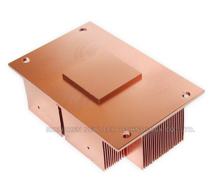 Copper Skived Custom Cpu /gpu Small Heat Sink With Base