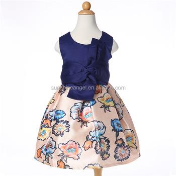 0ecf3326b Verano de Moda de Primavera modelos de impresión vestido Casual para chicas