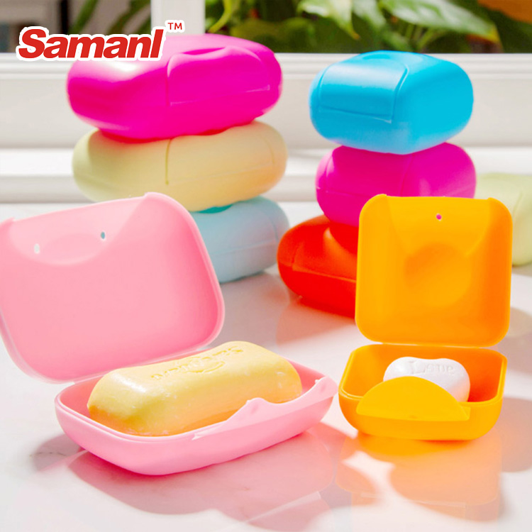 Wholesale plastic colourful soap holder ,travel soap dish