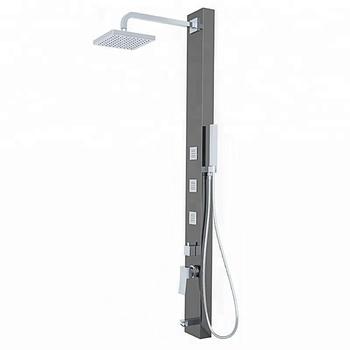 Luxury Rain Shower System Wall Mount Shower Head With All Metal Split Big  Flow 10 Inch