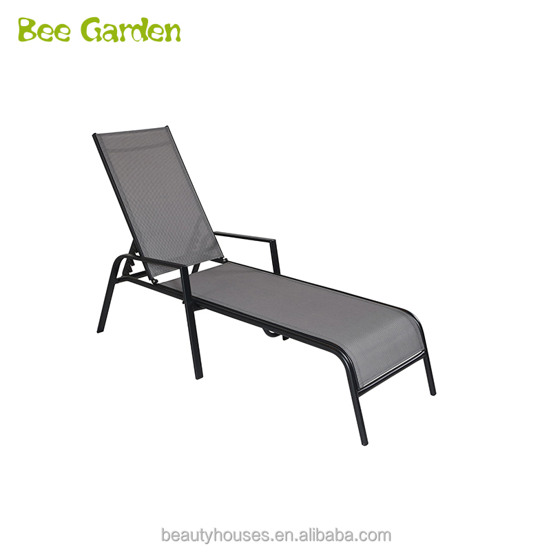 Outdoor zwembad metalen frame zon lounge strand chaise
